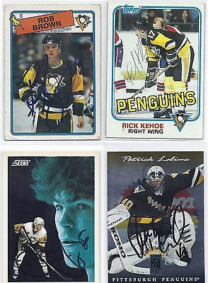 1981 Topps #17 Rick Kehoe Pittsburgh Penguins Autographed Hockey Card