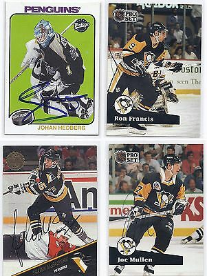 2001 UD Vintage #202 Johan Hedberg Pittsburgh Penguins Autographed Hockey Card