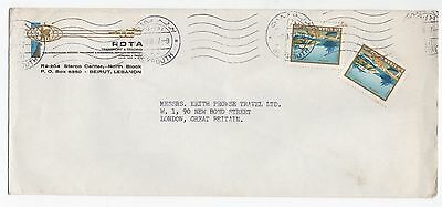 1967 LEBANON Air Mail Cover BEIRUT To LONDON GB Commercial ROTA SG920