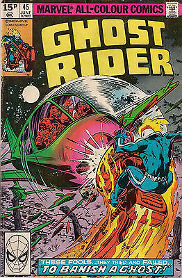 GHOST RIDER # 45  MARVEL  MICHAEL FLEISHER / DON PERLIN  1980  f-(5.5) ~~