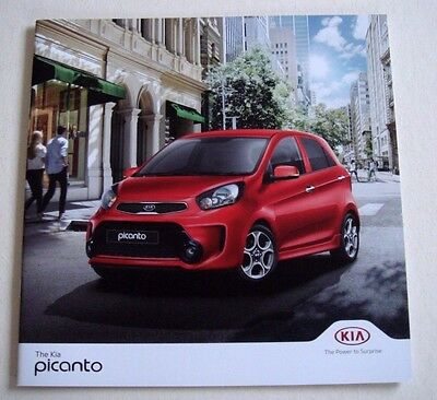 Kia . Picanto . Kia Picanto . October 2016 Sales Brochure