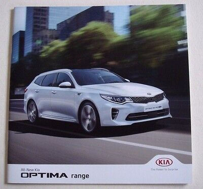 Kia . Optima . All new Kia Optima . September 2016 . Sales Brochure