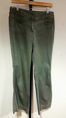 Marks & Spencer Size 10 Green Chino Style Casual Ladies Trousers
