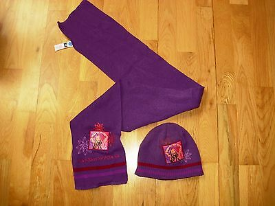 Girls Disney HANNAH MONTANA hat and scarf set age 5-7 excellent condition