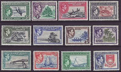 Gilbert & Ellice, Set Of 8, Sg43 - 54, Mounted Mint, 1939 - 55