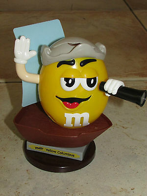 Collectable M&M Yellow Columbus Boat Sweet Candy Dispenser Limited Edition