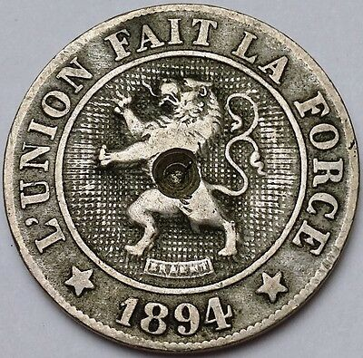 1894 Belgium 10 Centimes Coin KM# 42 - Free Combined Shipping
