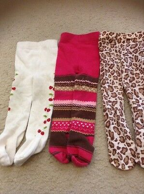 gymboree baby girls tights lot size 0-6 months