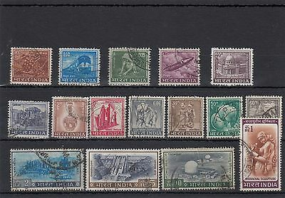 India.16 -- Used 1965/8 Stamps On Stockcard.r