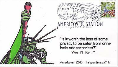 James Frankiewicz Signed Cachet First Day Cover 2013 Flag Americover Cancel