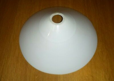 French vintage antique coolie lamp shade light shade white milk glass retro chic