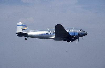 Original Fujichrome 35mm slide of ZS-BXF Douglas DC-3 South African Airlines A2A