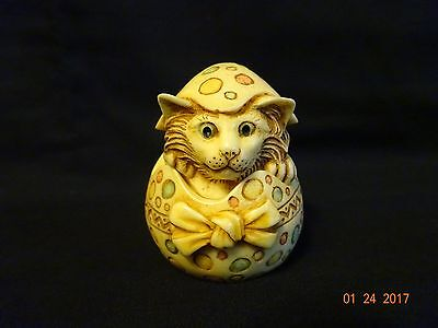 Harmony Ball Pot Bellys Calendar April Cat and Mouse Easter Egg 2001
