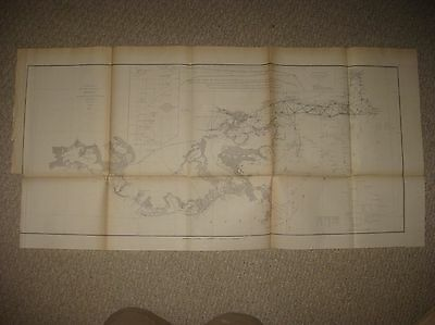 Early Antique 1855 Gulf Of Mexico Louisiana Mississippi Alabama Map New Orleans