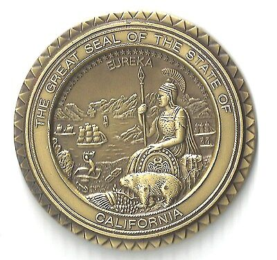 The Great Seal of The State of California 55 mm Bronze  Medal.