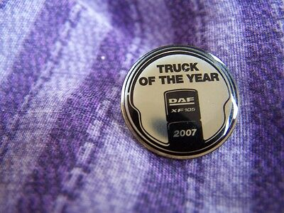 Daf Truck Of The Year 2007  Lapel Badge New.rear Pin Fixing