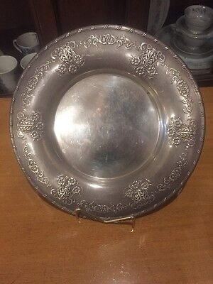 """Antique Round Silver Tray Or Charger Ares let Oneida Community Ornate 11"""""""