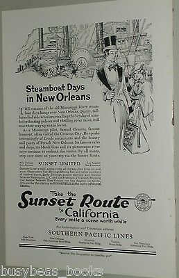 1922 Southern Pacific advertisement, Sunset Limited, New Orlean