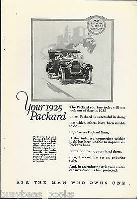 1925 PACKARD advertisement, large touring car