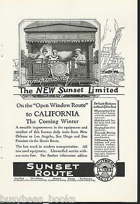1924 Southern Pacific Lines advertisement, SUNSET LIMITED Observation car