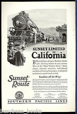 1926 SOUTHERN PACIFIC advertisement, Sunset Limited to California