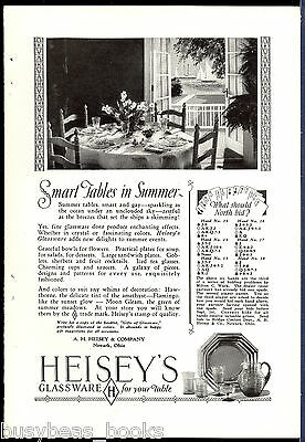 1927 HEISEY Glass advertisement, Heisey crystal glassware, depression glass