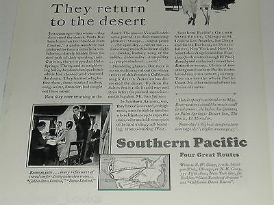 1929 Southern Pacific RR ad, Overland, Shasta Route etc