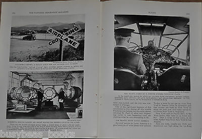 1933 FLYING, USA air travel magazine article, airlines airports statistics