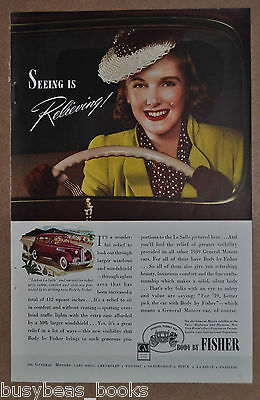 1939 BODY by FISHER advertisement, La Salle automobile, General Motors