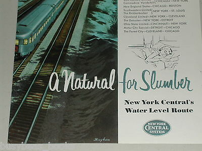 1954 New York Central ad, Water Level Route