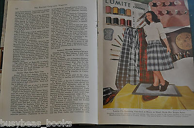 1949 magazine article DIXIE, southeast USA, people, industry etc, color photos