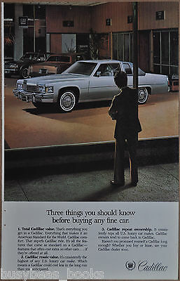 1978 CADILLAC Coupe deVille advertisement, Cadillac De Ville in dealers showroom