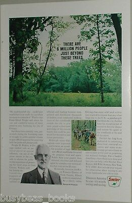 1967 Sinclair Petroleum advert., Cook County Forest Preserve, Chicago IL