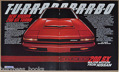 1984 NISSAN 200SX 2-page advertisement, Nissan 200 SX Turbo