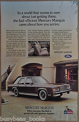 1981 MERCURY MARQUIS advertisement, Ford, large sedan, Canadian advert.