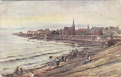 Postcard  Saltcoats  East Beach  R Tucks   1904