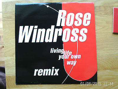 """Rose Windross Living Life Your Way - Remix 12"""" Single 1991 N/mint"""