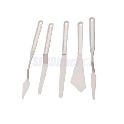 Plastic Palette Knife Set 5 Plastic Painting Mixing Knives for Oil Painting