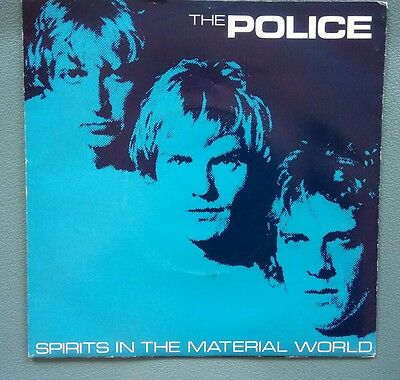 """Police Sting Single Spirits In The Material World 7"""" Vinyl Picture Sleeve"""