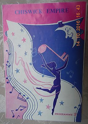 Chiswick Empire Theatre Programme - Variety Show - Wilson, Keppel & Betty - 1956
