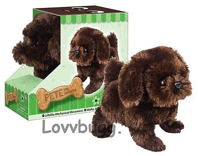 "Chocolate Lab Puppy Dog Moves Barks for American Girl 18"" Doll Pet Accessory"