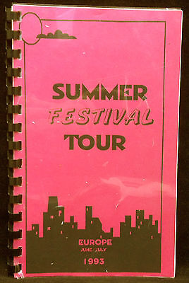 BOB DYLAN 1993 Summer Festival Europe Tour Concert Itinerary
