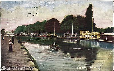 Houseboats at Oxford, Tuck Oilette postcard, posted 1907