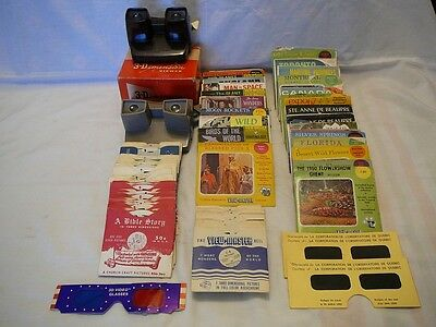 Vintage Mixed Lot 168 Reels View-Master--Two 3D-Viewers & More!!!
