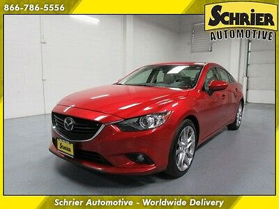 2014 Mazda Mazda6  14 Mazda 6 Red FWD SkyActiv Lane Departure Sunroof HID Heated Leather