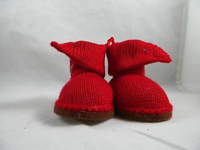 Red Boots with Button Christmas Tree Ornament new holiday