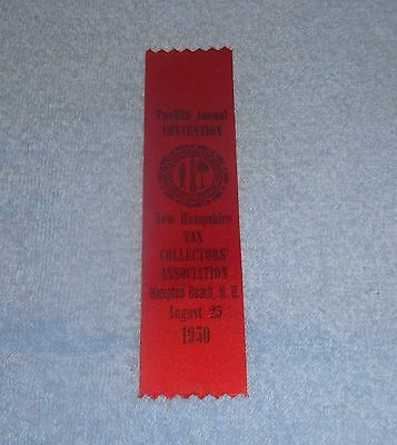 1950 New Hampshire Tax Collectors Association 12th Annual Convention Ribbon
