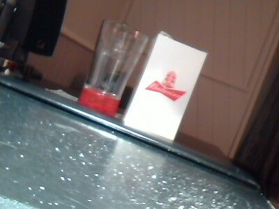 Budweiser  collectable Red Light Glass Goal-Synced Raise A Glass To Hockey NEW