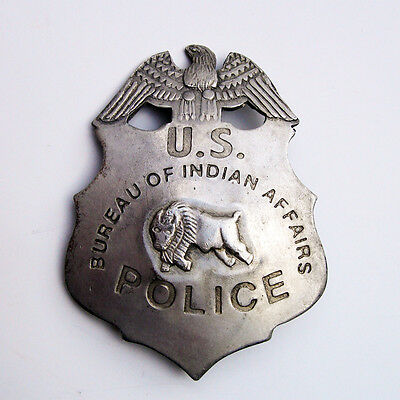 Vintage Antique OBSOLETE US Indian Affairs POLICE officer sheriff BADGE new pin