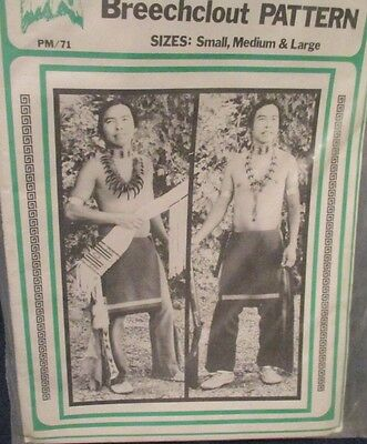 New Adult Leggings & Breechclout (  breechcloth ) Pattern Old West/Indian Style